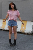 LES Vintage t-shirt - Jeffrey Campbell boots