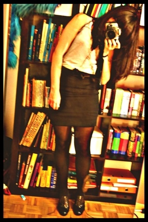 H&M shirt - vintage skirt - shoes