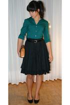 Express shirt - vintage skirt - max shoes shoes - vintage belt - antique purse