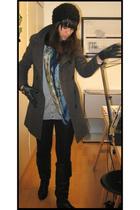 H&M vest - Zara tights - H&M hat - et moi coat - max by voegele shoes shoes - th