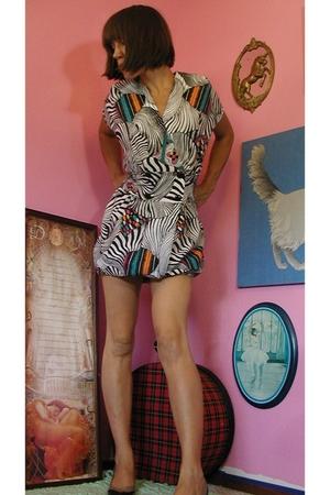vintage 80's pouf dress