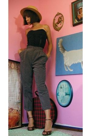 vintage 80's tweed pants.