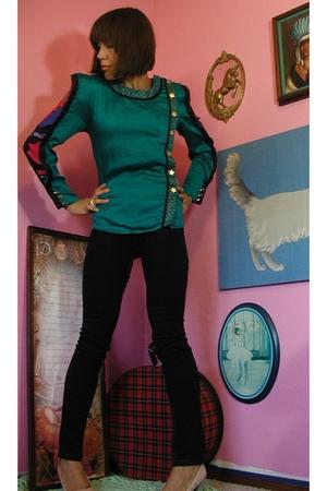 vintage AVANT GARDE militray STARS blouse MINT!!!
