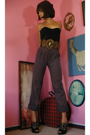 vintage 80's tweed pants