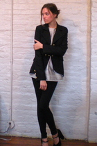 Diables blazer - BCBG top - Arden B leggings - Marc Jacobs shoes