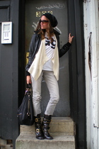 coal hat - anne taylor loft sweater - American Apparel t-shirt - Zara jacket - T