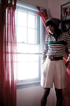 sweater - shorts - hat - belt