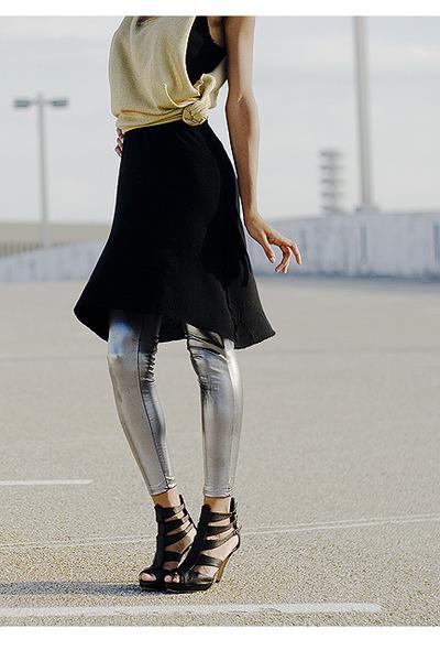 H&M dress - t-shirt - leggings - forever 21 shoes