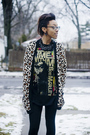 Gray-coat-yellow-sweater-black-t-shirt-beige-forever-21-shoes-brown-d-g-