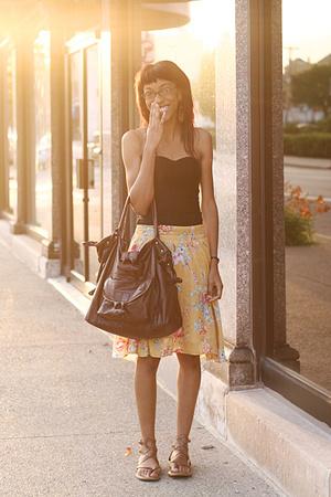 H&M top - Gadzooks skirt - Dolce and Gabbana purse - shoes