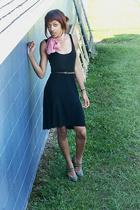H&M dress - scarf - belt - shoes
