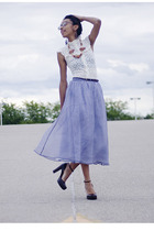 skirt - shirt - Guess shoes