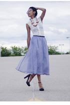 skirt - shirt - Guess shoes