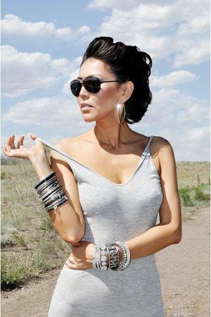 silver Alexander Wang dress - black no brand bracelet - silver no brand bracelet