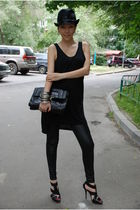 black Eugenia Kim hat - black Anya Hindmarch purse - silver H&M bracelet - silve