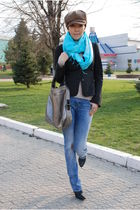 blue Zara jeans - silver Givenchy purse - gray Mexx jacket - blue accessories -