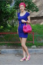 Pink-prada-purse-beige-lanvin-shoes-blue-h-m-dress-blue-miu-miu-belt