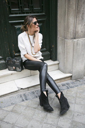 elena estaun necklace - Zara leggings - &amp; other stories bag - Diesel sunglasses