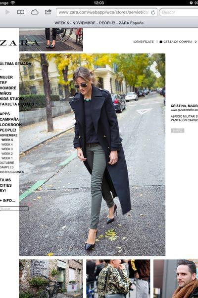 Zara coat - Zara jeans - Zara blouse - Zara heels