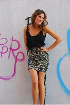 leopard Mango skirt
