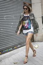 elena estaun necklace - Lacambra bag - Bershka shorts - Knockaround sunglasses