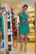 Lola Cruz heels - Mango dress