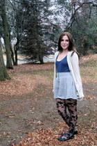 Forever 21 cardigan - Forever 21 skirt - Forever21 tights - H&M t-shirt - Target