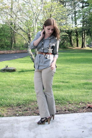 thrifted Bitten boots - American Eagle pants - thrifted belt - Target shoes