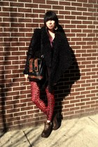 brown ving Jeffrey Campbell boots - black lora UNIF coat