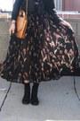 Black-fringe-vintage-jacket-black-sheer-vintage-skirt