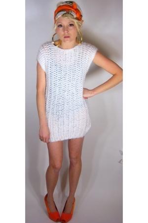 White crochet mini dress
