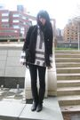 Black-vintage-coat-white-vintage-sweater-black-vintage-boots