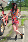 Black-flame-harley-davidson-boots-bubble-gum-ring-pop-free-style-xtreme-dress