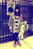 leopard vintage coat