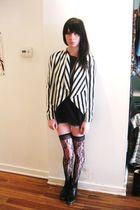 black H&M jacket - black Betsey Johnson socks