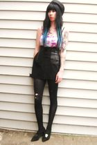 purple calvin klein swimwear - black vintage skirt
