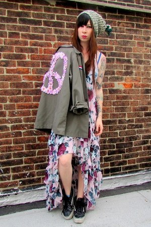 peace flower vintage jacket