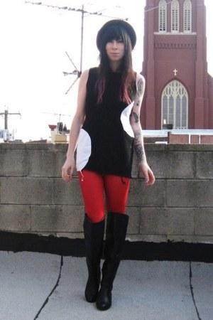 black mod vintage dress