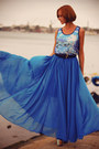 Blue-chiffon-asos-skirt-blue-print-river-island-top