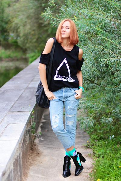 FEMMEX top - Choies jeans - minga berlin socks - Zara heels