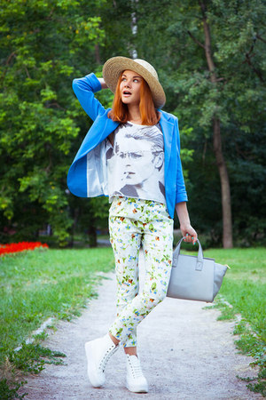 Sheinside blazer - Couronne bag - Sheinside pants - Choies sneakers
