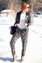nowIStyle jacket - nowIStyle bag - asos sunglasses - asos pants - asos wedges