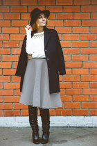 asos boots - Customellow coat - Chicwish skirt