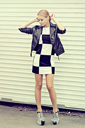 nowIStyle jacket - TFNC dress - zeroUV sunglasses - Jeffrey Campbell wedges