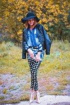 Sheinside blouse - Choies hat - nowIStyle jacket - Count the sheep bag