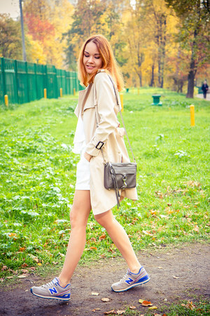 Chicwish coat - Rebecca Minkoff bag - Chicwish shorts