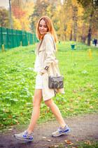 Chicwish coat - Rebecca Minkoff bag - Chicwish shorts