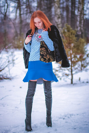 Sheinside skirt - Sheinside sweater