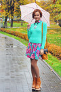 Light-orange-jeffrey-campbell-boots-floral-print-rare-dress