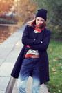 Sheinside-coat-evil-twin-jeans-brian-lichtenberg-hat-sheinside-sweater